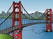 picture of golden gate bridge  - The golden gate bridge in San Francisco - JPG