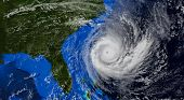 Hurricane Approaching The Us Coast .elements Of This Image Are Furnished By Nasa.3d Illustration poster