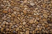 Brown Stone Grit Scree, Stone Floor Grit Scree For Background, Floor Surface Rock Materials Scree Te poster