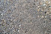 Stone Asphalt Texture Of Road. Grey Asphalt Road And Gravel. Background Pebble And Gravel poster