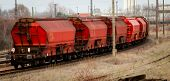 Any Railway Wagons Standing On A Railway poster