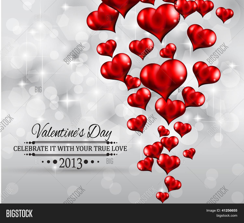 Valentine\'s Day Party Invitation Vector & Photo | Bigstock
