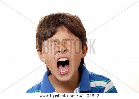 Young Boy Yawning