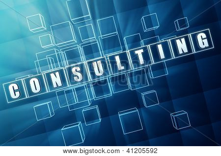 Blue Consulting In Glass Blocks
