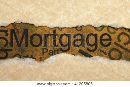Mortgage Torn Paper