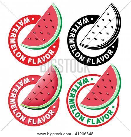 Watermelon Flavor Seal / Mark