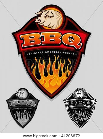 BBQ - Original American Recipe Emblem / Label