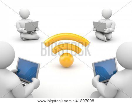 People use free wifi