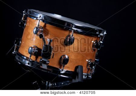 Brown Wood Snare Drum Isolated