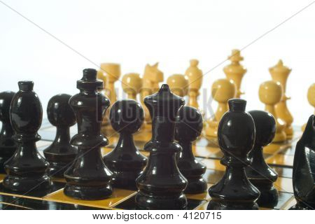 Wooden Glyphic Chess