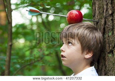 Kid With Apple On His Head