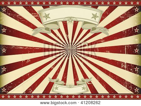 Screen red vintage sunbeams. A vintage horizontal poster with a blue sunbeam for you. Perfect size for a screen.