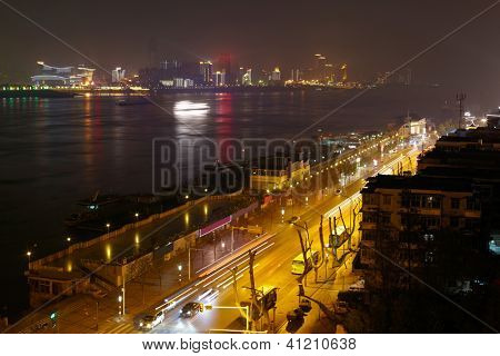 Night view of Wuhan, China