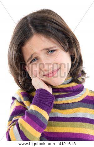 Adorable Mädchen Whit Zahnschmerzen
