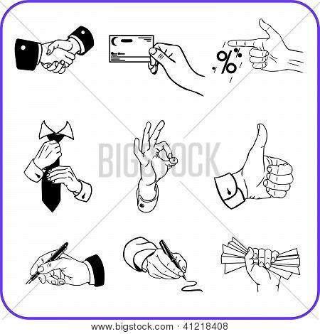 Business set - vector illustration.