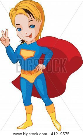 Super Boy vector illustartion