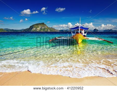 Tropical Beach, South China sehen, El Nido, Philippinen