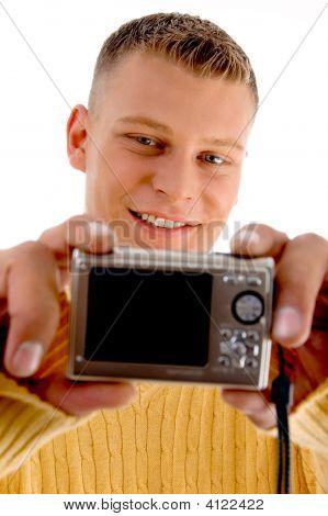 Man Looking Into Camera