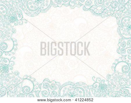 floral ornament invitation background