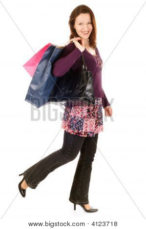 Happy Shopper Woman