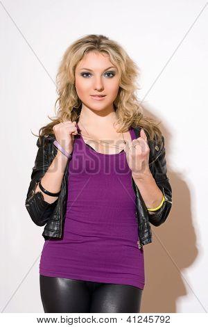 Skittish Young Blond Lady