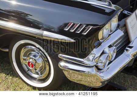 1958 Black Chevy Impala Side Panel