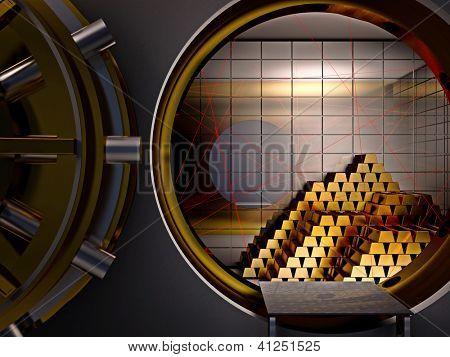 laser system in 3d bank vault