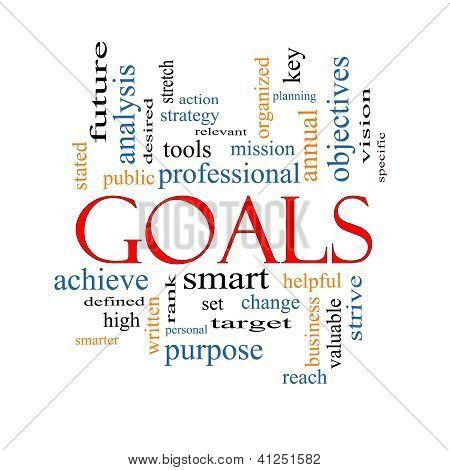 Goals Word Cloud Concept