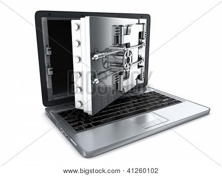 Secure Laptop, Open