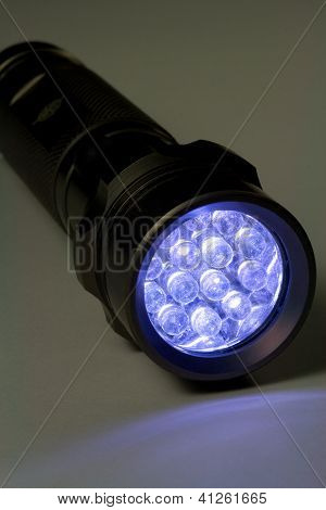 Modern LED Flashlight - Turned On