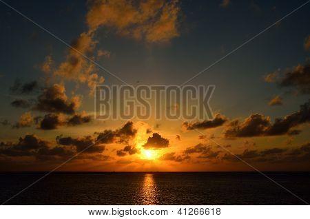 twilight sunset on the sea