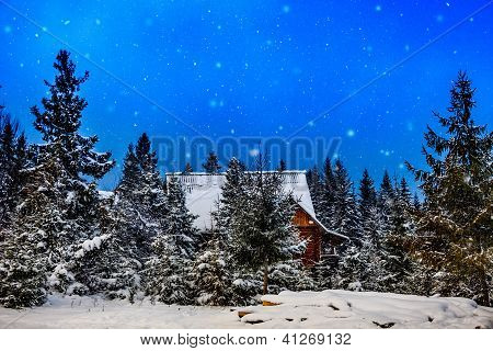 Mountain House During The Winter
