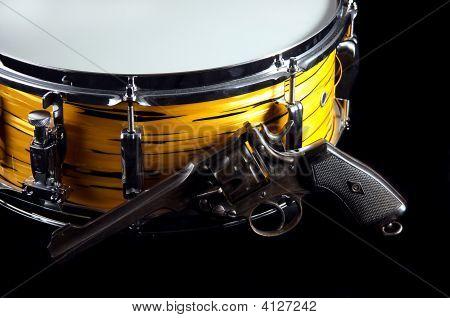 Tiger Drum And Revolver Gun