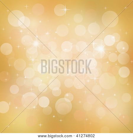 Bright Golden Festive Abstract Background With Glowing Luster