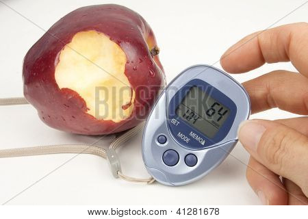 Bitten Apple And Pedometer