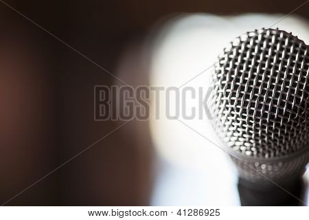 Close Up Microphone Background