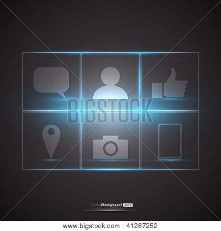 Social Media Design Elements | EPS10 Editable Vector Illustration