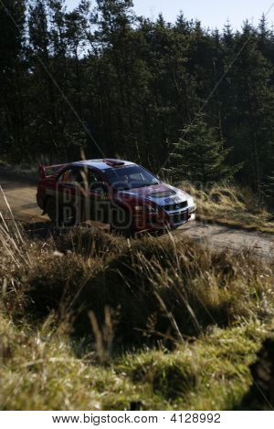 Mitsubishi Team At Wales Rally Gb 2008