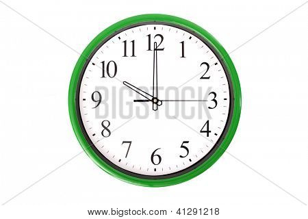 A clock of a series showing 10 o'clock. Isolated on a white background.