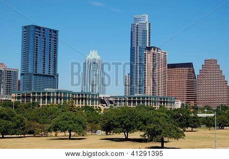 skyline in downtown of austin