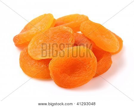 Dried apricot on a white background