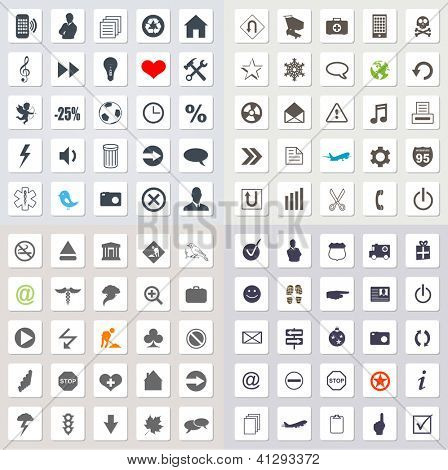 Set of 100 web icons EPS 10