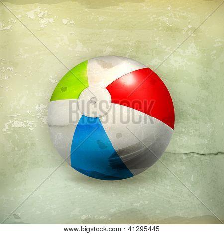 Beach ball, old-style vector