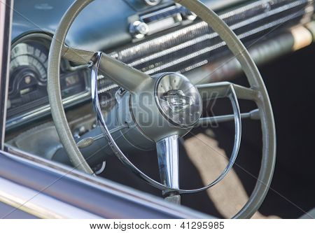 Black 1952 Oldsmobile Super 88 Interior