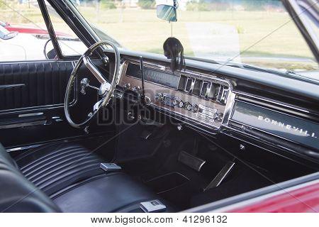 Red 1966 Pontiac Interior