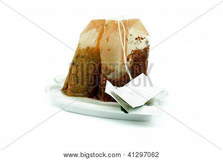 Bolsitas de té usadas