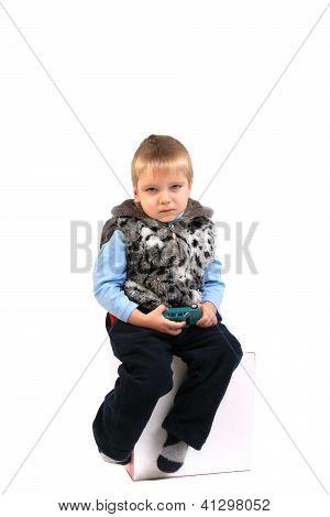 Sad Kid Isolated