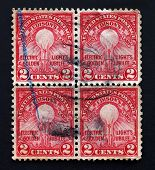 Electric light golden jubilee stamps