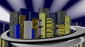 picture of skyway bridge  - City at Night 3D - JPG