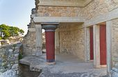 foto of minos  - Architecture details at the south part of 3500 years old palace of Knossos at the island of Crete - JPG